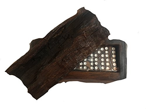 Dominos Ironwood Rustic Hand Carved Beautiful Game Set  Palo Fierro  By Iecap Llc