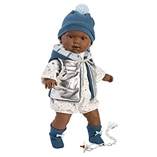 "Llorens 16.5"" Soft Body Crying Baby Doll Derek"