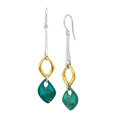 Silpada 'Fresco' Drop Earrings in Sterling Silver, Brass, Patina Brass