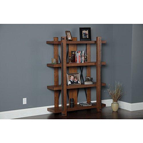 American Furniture Classics 4 Shelf Industrial Bookcase, 60