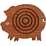 """Deals of the Day on Labyrinth Board Games - 8.2"""" Maze Puzzle Brain Teaser in Pig Shape - Hand and Eye Coordination Games from INDIA - Toys for Kids , Boys ,Girls by SouvNear"""