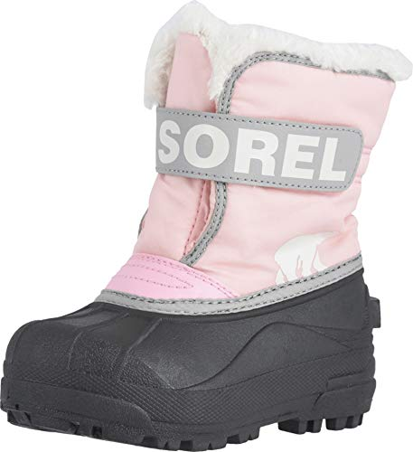 Sorel - Youth Snow Commander Snow Boots for Kids, Cupid, 9 M US (Drop Sock Snow Ski)