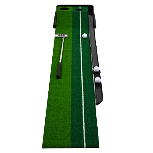 Yayoshow Playing – Golf Indoor Putting Mat Automatic Golf Putting Practice Training Aid