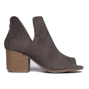 J. Adams Western Low Ankle Boot, Taupe PU, 7 B(M) US