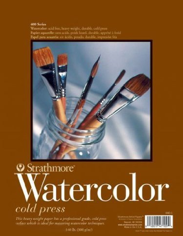 """Strathmore - Watercolour Sheet Stock 400 Series 22""""x30"""" 300Gsm, Cold Press. Intermediate Heavy Weight Paper, Popular with Water Colourists of all Levels. Popular for most water Colour Techniques . 2 Deckled (feathered) Edges CHC S473-1"""