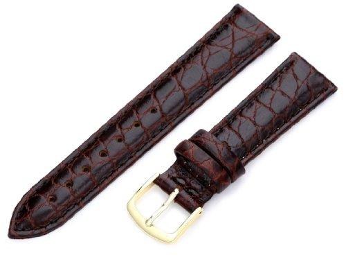 Hadley-Roma Women's LSL717RB 180 18-mm Brown Crocodile Grain Watch Strap