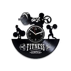 Clock Fitness Vinyl Record Clock No Pain No Gain Wall Clock Gym Xmas For Woman Sport Art Gym Clock Sport Clock Fitness Vinyl Record Wall Clock Gym Birthday For Him No Pain No Gain Wall Clock