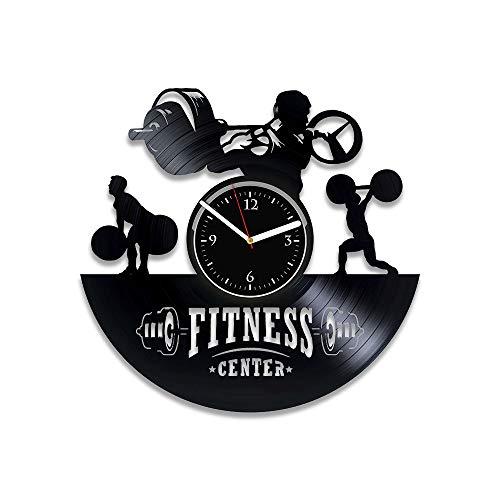 - RainbowClocks Fitness Vinyl Record Clock Fitness Vinyl Clock Gym Gift Xmas Gift Gym Clock Sport Gift Gym Clock Sport Clock Gym Vinyl Record Wall Clock Gym Gift For Him No Pain No Gain Wall Clock