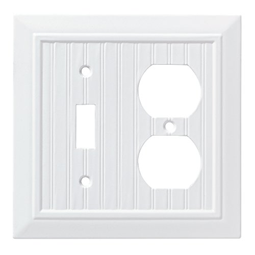 - Franklin Brass W35269-PW-C Classic Beadboard Switch/Duplex Wall Plate/Switch Plate/Cover, Pure White
