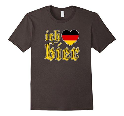 [Men's Oktoberfest I Love Beer Ich Liebe Bier Vintage T Shirt Medium Asphalt] (German Beer Girl Costume Ideas)