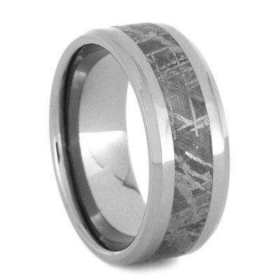 Gibeon Meteorite 8MM Comfort-Fit Titanium Band and Sizing Ring, Size 9 by The Men's Jewelry Store (Unisex Jewelry) (Image #2)