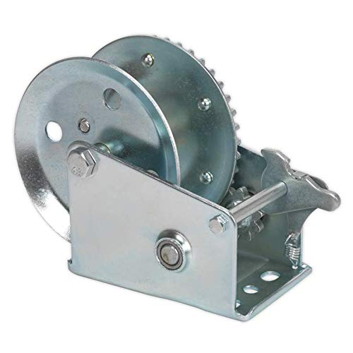 Sealey GWE1200M 540kg Capacity Geared Hand Winch Silver 540 kg
