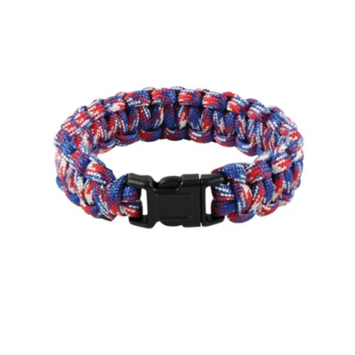 Rothco Paracord Bracelet, Red White & Blue, 9''