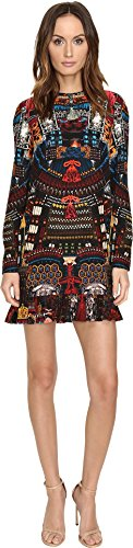 DSQUARED2 Women's Samurai Printed Long Sleeves Dress Mix Colours (Dsquared2 Womens Clothing)