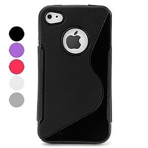 conseguir Carcasa de Protección de Colores Puros para el iPhone 4 y 4S , Negro