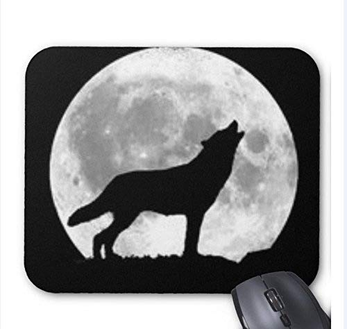 (Wolf Mouse Pad Custom Wolf Howl Non-Slip Rubber Gaming Mouse Pad Size x inch )