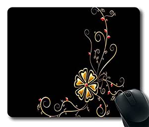 Gold flower DIY Design Custom Mouse Pad Gaming Mousepad in 220MM*180MM*3MM -214097