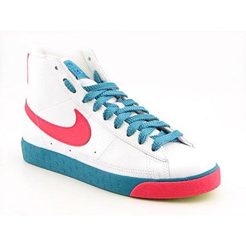 Nike Gold Blazers (Nike Women's Blazer High White/Hot Red-Metallic Gold-Radiant Emerald High-Top Basketball Shoe - 8.5M)