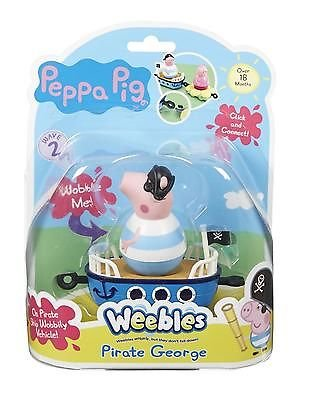 Peppa Pig Weebles Mini Vehicle and Figure Pirate George Character Options