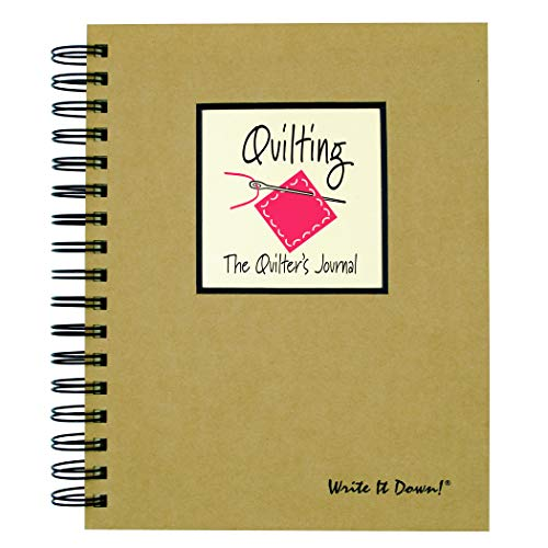 Write it Down Series Quilting, The Quilters Journal - Kraft Hard Cover (Guided format to help keep track of projects!),Natural Brown,9 x 7.5