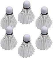 TTNARSA Goose Feather Badminton Shuttlecocks Pack of 6, Durable and Stable High Speed Shuttlecock Birdie Balls