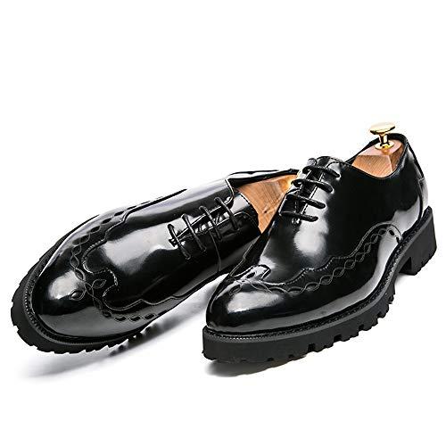 tamaño Encaje Negro Diseño con Tacón de shoes Plano Hombre Gold de 2018 Zapatos Cordones Hombre Zapatos Fang 39 para EU Light Espejo Zapatos Color con de Oxfords gqTnZqzwF