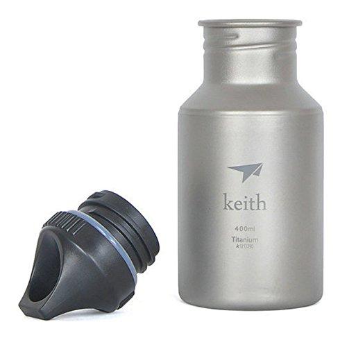 Keith 400ml Titanium Wasser Flasche Camping Outdoor Sport Bike Wasser Flasche Wasserkocher Bakteriostatisch Funktion Korrosionsbeständigkeit