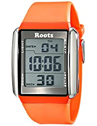 Roots Men's 1R-AT104OR1O Seymour Digital Display Quartz Orange Watch