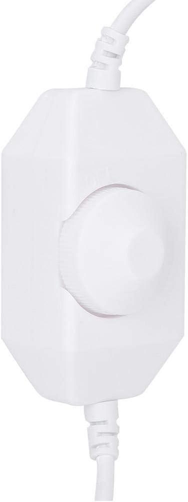 regulador de atenuaci/ón de Interruptor de atenuaci/ón Continua para Sala de Estar y Dormitorio White xianshi Regulador de atenuaci/ón antienvejecimiento atenuador LED de un Solo Color