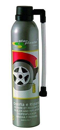 Bomba para inflar y reparador gomas coche 300 ml: Amazon.es: Coche y moto