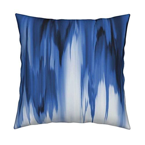Roostery Cobalt Velvet Throw Pillow Cobalt Shibori Dye Blue White Abstract Modern Cobalt Shibori Ikat Dye Waterfall Indigo Bohemian by Arrpdesign Cover and Insert Included