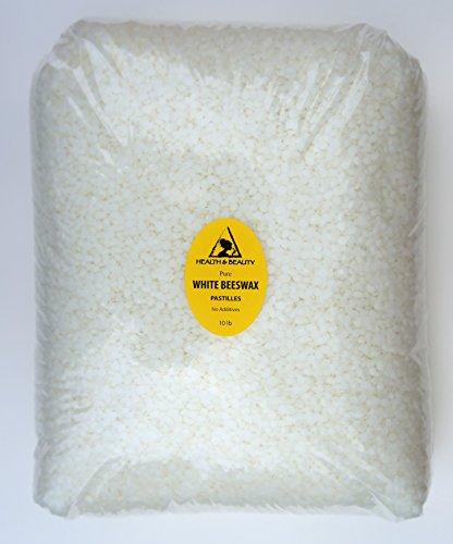 Cire d'abeille blanche abeilles cire bio Pastilles barbes Premium premier Grade 100 % pur 10 LB