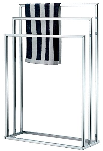 Vivo 3 Bar Chrome Towel Rail Stand Airer Dryer New Clothes Free Standing Tier