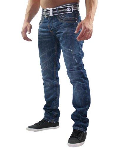 Redbridge - Jeans - Droit - Homme Bleu Bleu