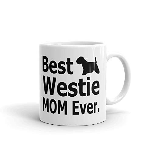 (Best Westie Mom Ever Lover Terrier Coffee Tea Ceramic Mug Office Work Cup Gift15 oz)
