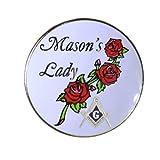 Mason's Lady Masonic Gold Plated Lapel Pin 7/8 Inch Hat Tac