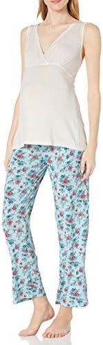 Everly Grey Womens Maternity Susan and Nursing 5 Piece Pajama Set Maternity Pajama Set