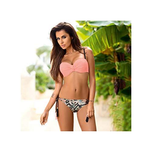 RACHEL&KERR Solid Bikini Set Sexy Bikinis Push Up Swimsuit Women Halter Top Swimwear Printing Ladies Plus Size Beach Wear Biquini Blue XXL