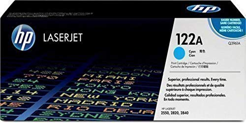 (HP Q3961A 122A Cyan Original LaserJet Toner Cartridge For 2550 2800 2820 2830 2840 - 4,000 Pages)