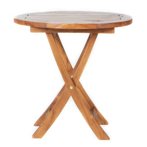 All Things Cedar TS26 Teak Bistro Table (Indonesian Teak Garden Furniture)