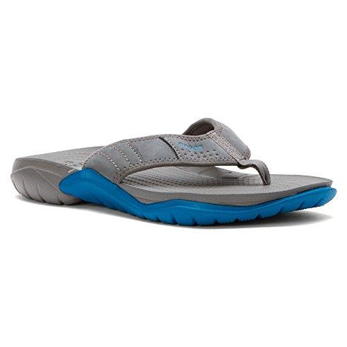 crocs Men's Swiftwater M Flip Flop, Graphite/Ultra Marine, 8 M US