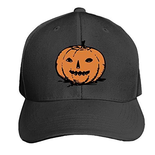 Peaked hat Pumpkin Halloween Jack-O-Lantern Fall Fruit Gourd Adjustable Sandwich Baseball Cap Cotton Snapback]()