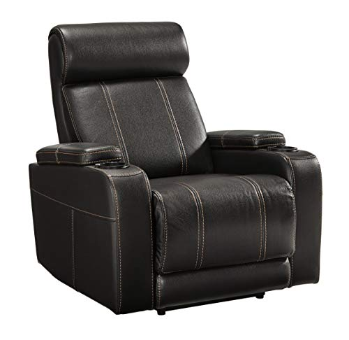 (Signature Design by Ashley 2120206 Boyband Power Recliner, Black)