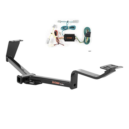 CURT Class 1 Trailer Hitch Bundle with Wiring for 2006-2015 Honda Civic - 11391 & 56051