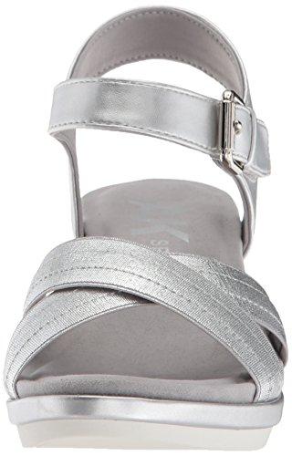 Womens Synthetik Paprika Silver Synthetic Silver Pump Klein Anne w6qF4H7H