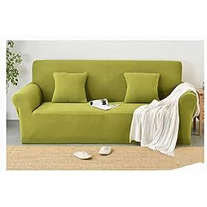 Amazon.com: Funda elástica para sofá de color sólido con ...