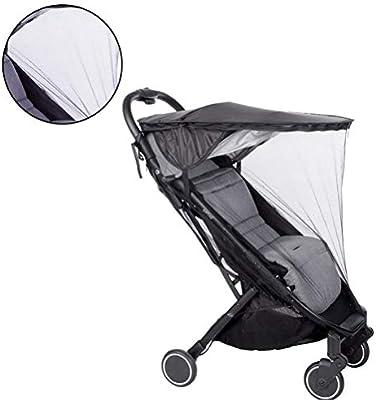 Negro Toyvian Cochecito de beb/é a Prueba de Agua Sombrilla Accesorios duraderos para el Cochecito de beb/é Canopy del Cochecito de beb/é Techo a Prueba de Lluvia con sombrilla 2 en 1 + Mosquito Net