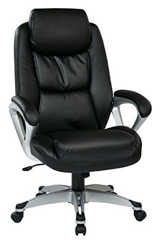 - Work Smart ECH89186-EC3 Executive Chair, Black