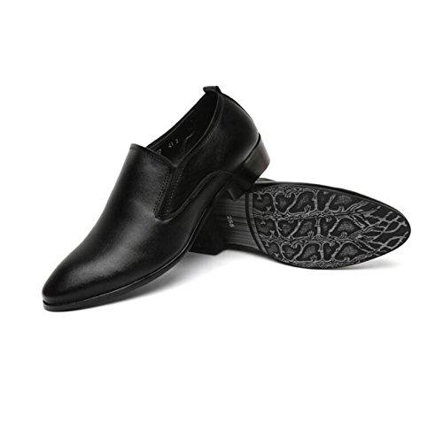 de Suave Boda Zapatos Banquete Zapatos de Negros Hombres a para Punta Black Tendencia Solos Bajos Cuero la de Coreana Ayudar de los de nuevos Moda LQV Zapatos Moda de la FwBqaxx6