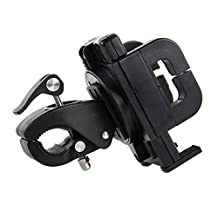 DURAGADGET Exclusive GPS Satnav Holder with Universal Flex Clamp (Bike Handlebars / Golf Buggies) for the NEW TomTom GO 60 / GO 61 / GO 51 Satnavs